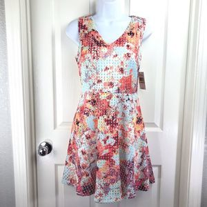 Red Saks Fifth Avenue Fit Flare Dress sz 2